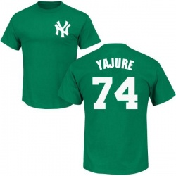 Men's Miguel Yajure New York Yankees St. Patrick's Day Roster Name & Number T-Shirt - Green