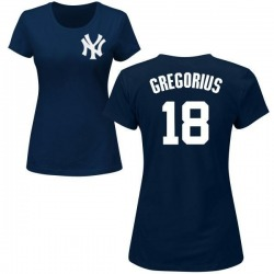 Women's Didi Gregorius New York Yankees Roster Name & Number T-Shirt - Navy