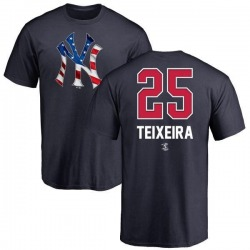 Youth Mark Teixeira New York Yankees Name and Number Banner Wave T-Shirt - Navy